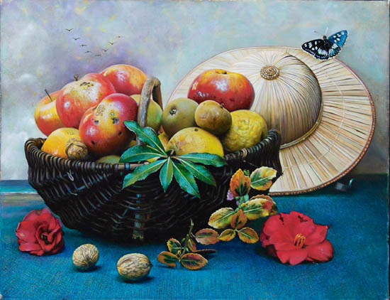 Butterfly out of season - 35x27cm - 2008 - Gilles ESNAULT - Papillon hors saison